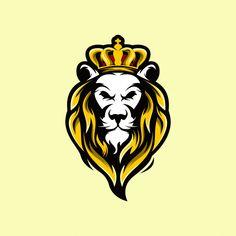 Lion head with crown Premium Vector Lion King Art, Lion Of Judah, Lion Art, Lion Head Logo, Lion Head Tattoos, Lion Images, Lion Pictures, Leon Logo, Lion Profile
