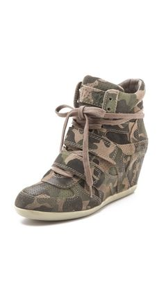 Ash Bea Wedge Sneakers don't care for the wedge sneaker craze but I like theses...might be the camo
