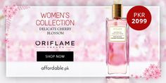 WOMEN'S COLLECTION: Delicate Cherry Blossom by ORIFLAME Brand From Sweden.