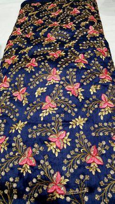 Zardosi Embroidery, Hand Embroidery, Embroidery Designs, Designer Punjabi Suits, Indian Designer Wear, Indian Bridal Lehenga, Flower Coloring Pages, Indian Textiles, Gold Work