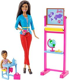 Explore new careers in depth with the Barbie Careers complete play sets. From medicine to teaching these focused females make anything possible! The Barbie Careers Complete Play Teacher set takes you...