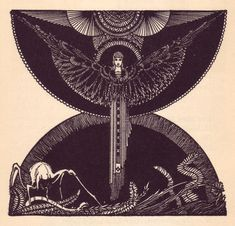 An Illustration by Harry Clarke for a 1925 edition of Goethe's Faust