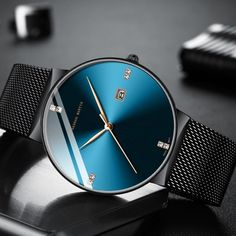 Classical Business Waterproof Top Brand luxury Quartz Men Watch - Men's style, accessories, mens fashion trends 2020 Simple Watches, Casual Watches, Boys Watches, Sport Watches, Fancy Watches, Men's Watches, Gold Watch Outfit, Surf Watch, Mens Dress Watches