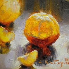 "Daily Paintworks - ""Dance of The Clementines"" - Original Fine Art for Sale - © Elena Katsyura"