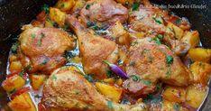 Pui cu cartofi si rosii la cuptor Pork Recipes, Chicken Recipes, Easy Cooking, Cooking Recipes, Bio Food, Romanian Food, Healthy Meal Prep, Soul Food, Food Dishes