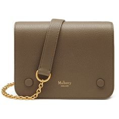 Mulberry Small Clifton ($855) ❤ liked on Polyvore featuring bags, handbags, shoulder bags, clay, chain shoulder bag, brown purse, brown crossbody, brown cross body purse and camo handbags