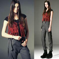 Red Tassel Gothic Punk Hippie Boho Chic Clothing Vests for Women SKU-11401646