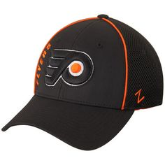 a2a090336b7dc Men s Philadelphia Flyers Zephyr Punisher Foam Mesh Black Flex Hat