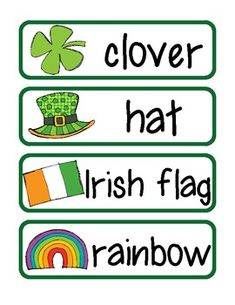 Free! 15 St. Patrick's Day Vocabulary Cards