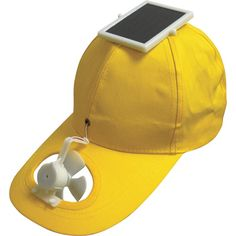 $12.99 SOLAR HAT Use the power of the sun to keep cool! And you thought solar energy was just for buildings? Solar energy powers the fan in this adjustable cap, keeping you cool as a cucumber. While your friends are wilting you'll be cool and comfortable. Great when you are gardening, golfing, fishing or just hanging out.