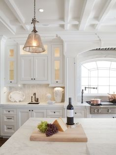 This stylish & stunning white kitchen was completed by Dan Luna Exceptional Woodworking. #luxeSoCal