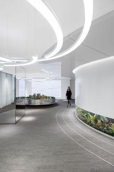 A WANDERING CITY   TWISTS AND TWIRLS on Behance Lobby Interior, Office Interior Design, Interior Architecture, Adobe Photoshop, Lightroom, Futuristic Interior, Futuristic Design, Corporate Interiors, Office Interiors