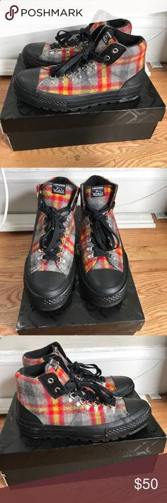 NWT Converse x Woolrich mens 9.5 womens 11 Brand new comes with box.  Awesome boot 9b9e1b35520