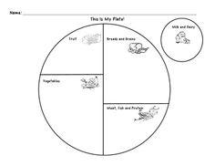Free Discover #MyPlate worksheets for #kindergarten on #