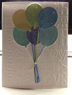 Birthday Whimsey - Balloons by stampinzoo - Cards and Paper Crafts at Splitcoaststampers