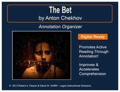 """This DIGITAL-READY, """"side-by-side"""" annotation organizer supports close and active reading by prompting students to write questions, comments, connections, and predictions while reading the text."""