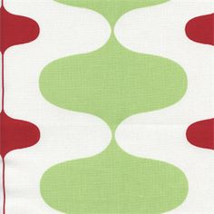 This is a beautiful kiwi green and lipstick red contemporary drapery fabric by Premier Prints. This fabric is perfect for any home decorating project.v114IFR