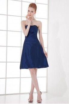 Taffeta Scoop A Line Dress