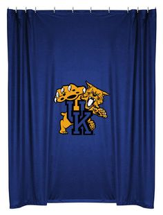 Kentucky Wildcats NCAA Sports Coverage Team Color Shower Curtain #SportsCoverage #LockerRoom