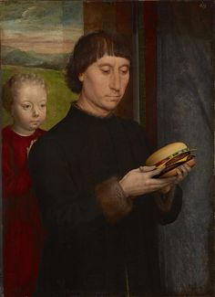 Modern Art Paintings, Classic Paintings, Chef D Oeuvre, Oeuvre D'art, Burger Cartoon, Hans Memling, Classical Art Memes, Monalisa, Co Working