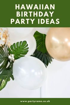 Create a Hawaiian themed birthday for kids and for adults with supplies, decorations, balloons and tableware from Partyrama. Hawaiian Party Supplies, Hawaiian Birthday, Birthday Party Themes, Balloons, Party Ideas, Decorations, Create, Tableware, Kids
