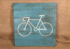"""Rustic Bicycle Sign (16"""" x 16"""") - Wall Decor by TinkerDos on Etsy"""