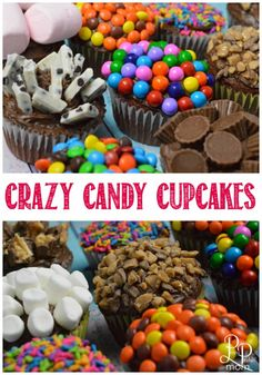 Crazy candy cupcakes!  Turn a boring cupcake into something amazing!!