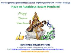 www.renewablepower.co.in     wishes                    May the Generous Goddess Maa Saraswati  brighten your life with countless blessings