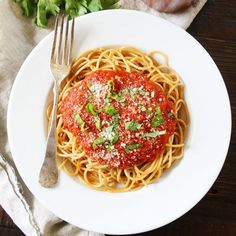 Slow Cooker Marinara Sauce-this rich and hearty marinara sauce has the BEST flavor because it is made in the slow cooker.