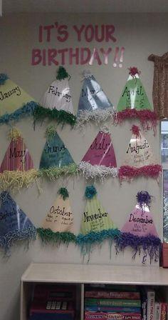 Birthday Board Preschool Classroom Displays Teachers New Ideas