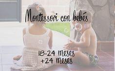 MONTESSORI CON BEBES PARTE 4 (18-24 MESES) Montessori Education, Montessori Classroom, Montessori Toddler, Montessori Activities, Heuristic Play, Montessori Practical Life, Baby Blog, Happy Baby, Childcare
