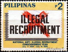Philippines.  FIGHT ILLEGAL RECRUITMENT YEAR. Scott 2310 A638, Issued 1994 July 15, 2. /ldb.