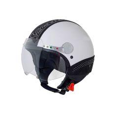 Helmet decorated with Swarovski