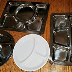 Stainless Steel Round Divided Dinner Plate 4 sections & Stainless Steel Round Divided Dinner Plate 4 sections | drrao ...