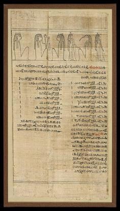 Book of the Dead of Nestanebtasheru; sheet 60; black line vignette above; Hieratic text in red and black below. Unidentified text.