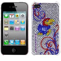 Kansas Jayhawks Blingz Rhinestone iPhone 4 Shell Case would it fit my phone.... I love this :)