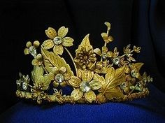 Forest Leaf and Flower Tiara