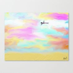 Flying Stretched Canvas by Escrevendo e Semeando - $85.00