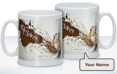 Know a self-confessed chocaholic? The Personalised Cooking With Chocolate Mug is a great gift for someone who can't resist a sweet treat! The mug is even personalised with a name of your choice! #Chocolate #PersonalisedGifts #ChocolateDay  £10.99