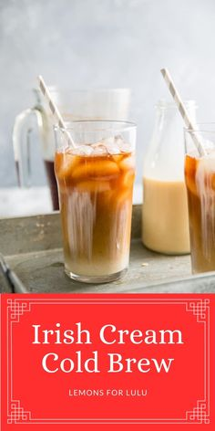 Calling all coffee lovers!! This cold brew coffee recipe is homemade and is finished off with a little Irish cream and milk drizzle. This coffee is refreshing and recharging!