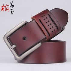 Aliexpress.com : Buy New Designer Retro Style Belt Mens Luxury Pierced Genuine Leather Belts For Men Metal Buckle High Quality Cowboy Pants Strap from Reliable belt tooth suppliers on YanYang International Company Ltd. Waist Belts, Metal Buckles, Leather Belts, News Design, Retro Style, Apple Watch, Retro Fashion, Tooth, Luxury