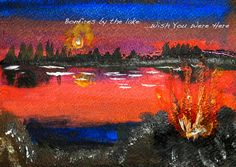 Painted postcard by Monica Stolar