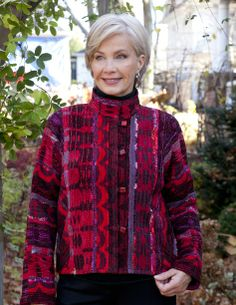 hot off the loom Woven Fabric, Vests, Loom, Mothers, Knitwear, Hand Weaving, Blouse, Sweaters, Jackets