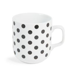 MdM - Mug à pois en porcelaine BLACK & WHITE