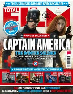 Captain America & Black Widow on the cover of Total Film Magazine April 2014 issue. So excited about this movie just 2 more months !!!!