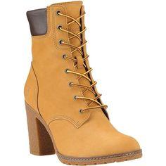da3dd9e692d Timberland Women s Glancy 6 Inch Boot - 7.5 Wide - Wheat Nubuck Block Heel  Boots