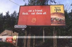 When McDonald's promoted cannibalism. | 22 Times When Vandalism Won