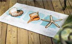 "SRCSJW 22.5"" x 37"" Coastal Jewels Dobby RugOriginal Artwork © Lisa Audit, Licensed by Wild Apple                                                        beachy"