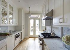 look at the double doors! Vintage-Luxury-Galley-Kitchen-Kitchen-Studio-of-Glen-Ellyn