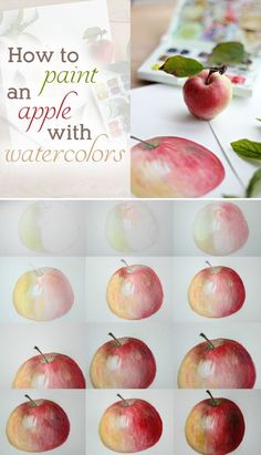 @Lucy (Craftberry Bush) is at it again with this amazing tutorial on painting an apple with water colors. So beautiful.